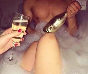 champagne, couples, and love image