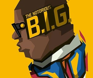art, biggie smalls, and rap image