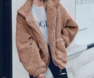 coat, cozy, and women image