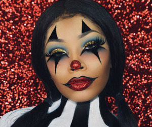 clown, contest, and glitter image