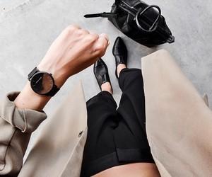 black, fashion, and handbag image