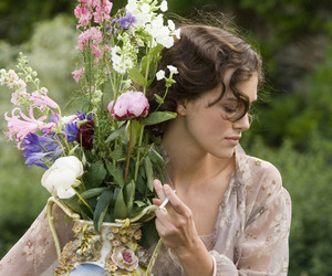 keira knightley, atonement, and flowers image