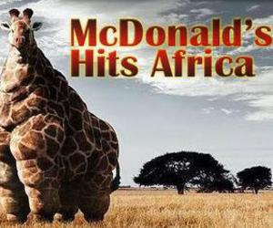africa, funny, and McDonalds image