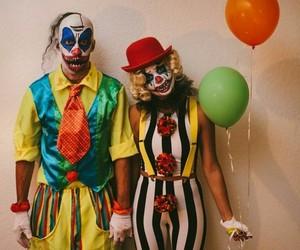 Halloween, clown, and costume image