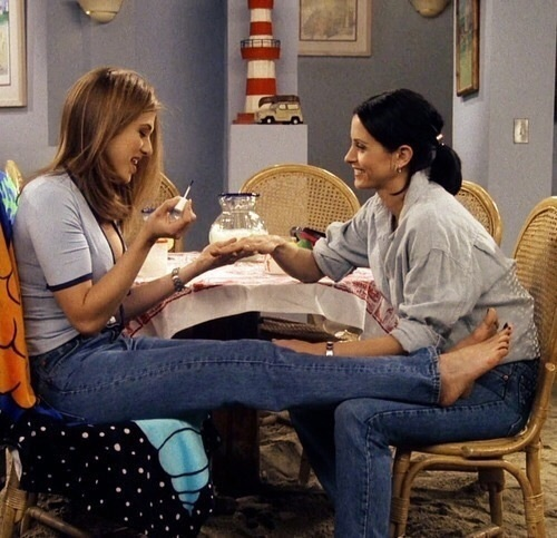 friends, monica, and rachel image
