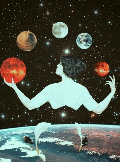 art, psychedelic, and space image