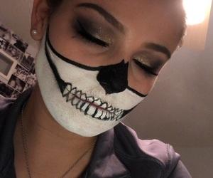 Halloween, skull, and halloween makeup image