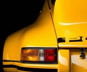 cars, porsche, and yellow image