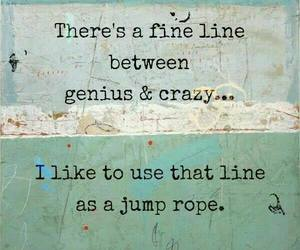 quotes, crazy, and genius image