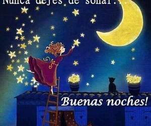 frases, español, and good night image