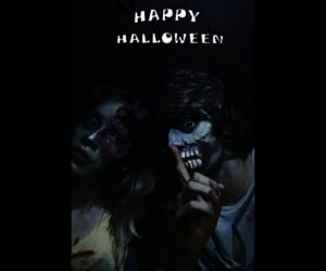creepy, zombies, and halloween make up image