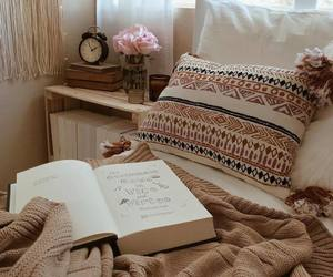 bedroom, books, and decoration image
