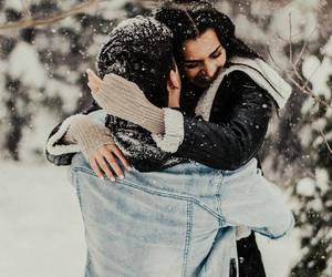cold, couple, and goals image
