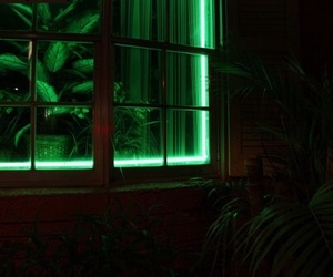 green, neon, and plants image
