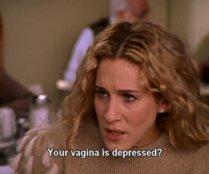 sex and the city, depressed, and carrie image