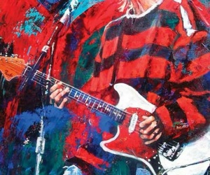 guitarrista, kurt cobain, and rock art image