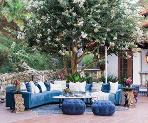 backyard, design, and garden image