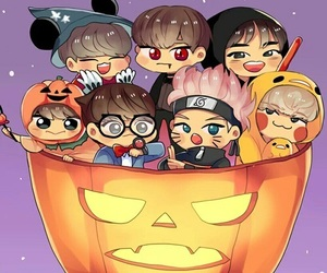 Halloween and bts image