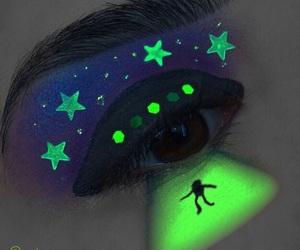 alien, halloweenmakeup, and aliens image