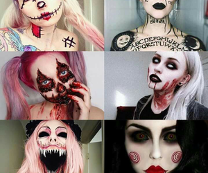Halloween, makeup, and horror image