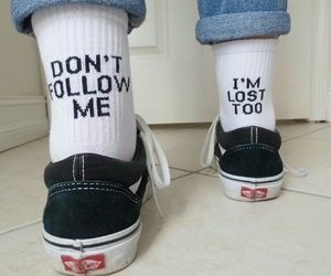 vans, socks, and lost image