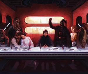 star wars, last supper, and darth vader image