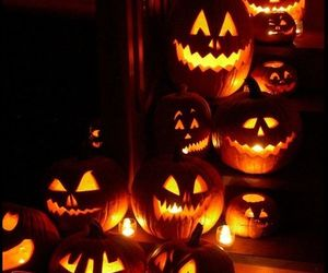 Halloween, light, and trick or treat image