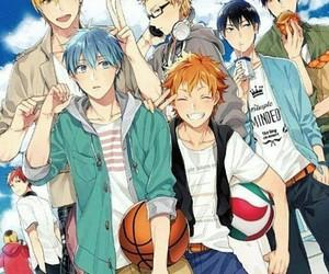 kuroko no basket, haikyuu, and anime image
