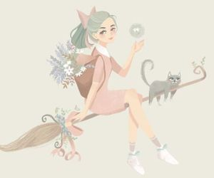 art, pastel, and witch image