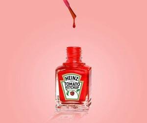 red, pink, and nail polish image