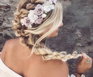dress, hair, and fashion image