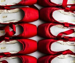 red, ballet, and dance image