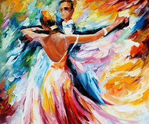 dance, painting, and art image
