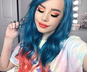 blu, pink, and tumblr image