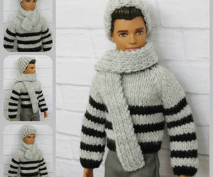 beanie, doll clothes, and etsy image