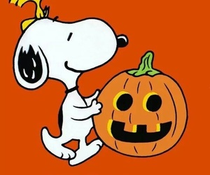 Halloween, morning, and snoopy image