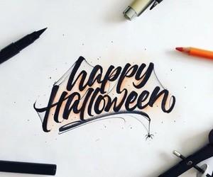 art, calligraphy, and Halloween image