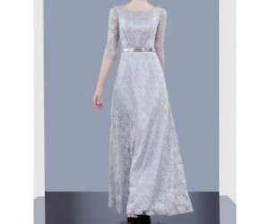 wedding party dress, mother of the bride dress, and long party dress image