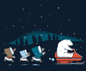 arctic, illustration, and snowmobile image