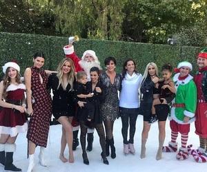 christmas, family, and kim kardashian image