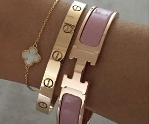 bracelet, cartier, and gold image