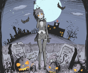 yandere simulator and Halloween image