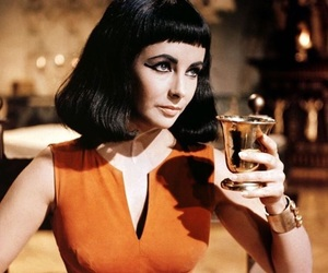 cleopatra, movie, and vintage image