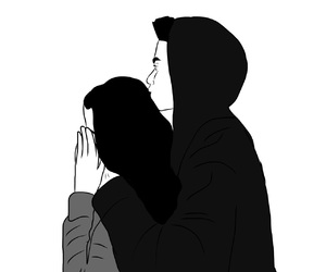 black and white, boyfriend, and couple image