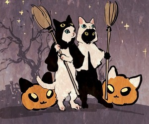 cats and Halloween image