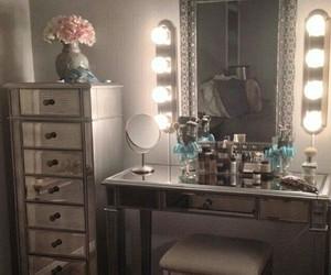 bedroom, mirror, and luxury image