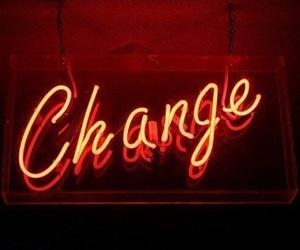 change, light, and neon image