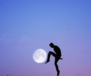 moon, art, and photography image