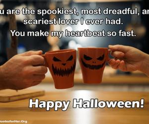 cups, happy halloween, and mugs image