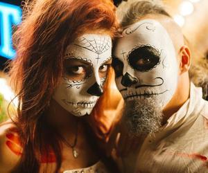 couple, Halloween, and fashion image
